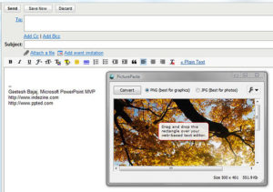PicturePaste to Gmail