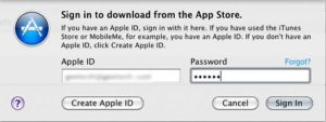 Sign in to continue your OS X Lion Download